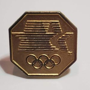 Accessories - 1984 LA Olympics pin - Octagon 4 Olympic stars